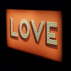Image of Inspirational Words Wooden Light Box