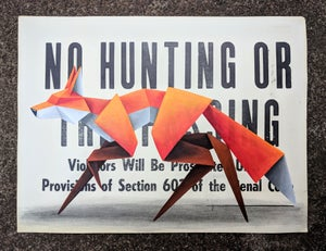 Image of 'No Hunting #3' original painting