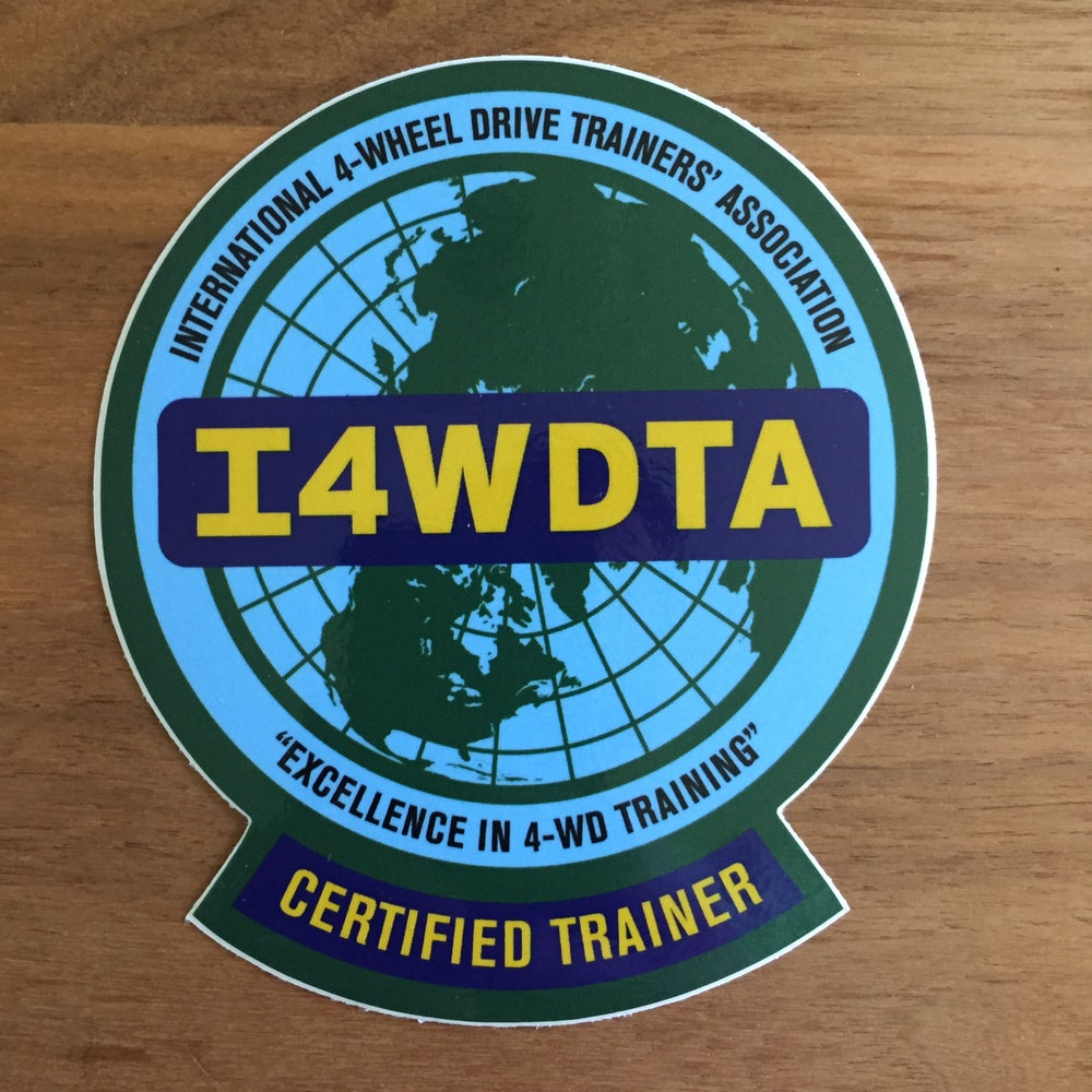 Image of I4WDTA CERTIFIED TRAINER Vinyl Decal