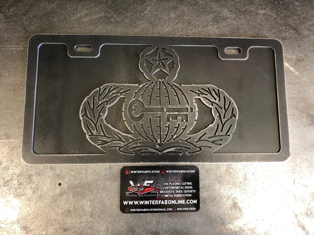Image of USAF Master Intelligence Badge License Plate