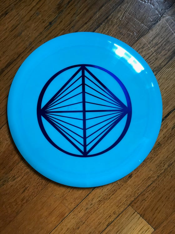 Image of Star Destroyer (Light Blue w/ Purple Diamond Stamp) Golf Disc