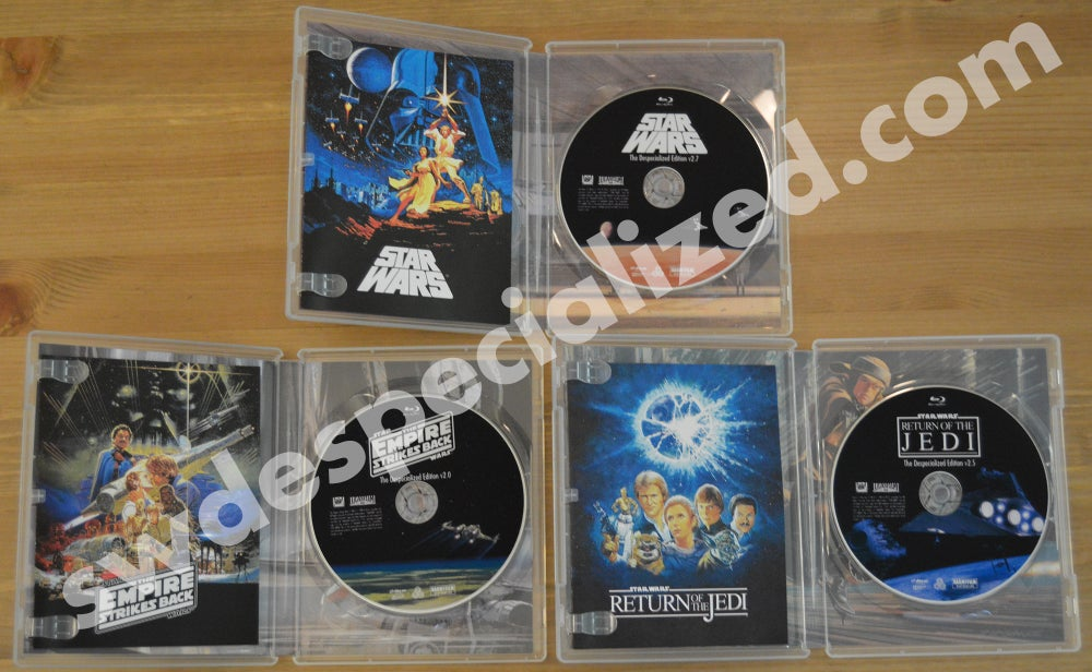 Image of SW Despecialized Original Trilogy Blu-ray Set w/ Special Features