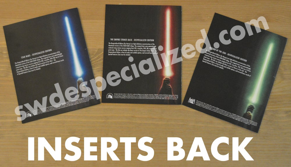 SW Despecialized Original Trilogy Blu-ray Set w/ Special Features