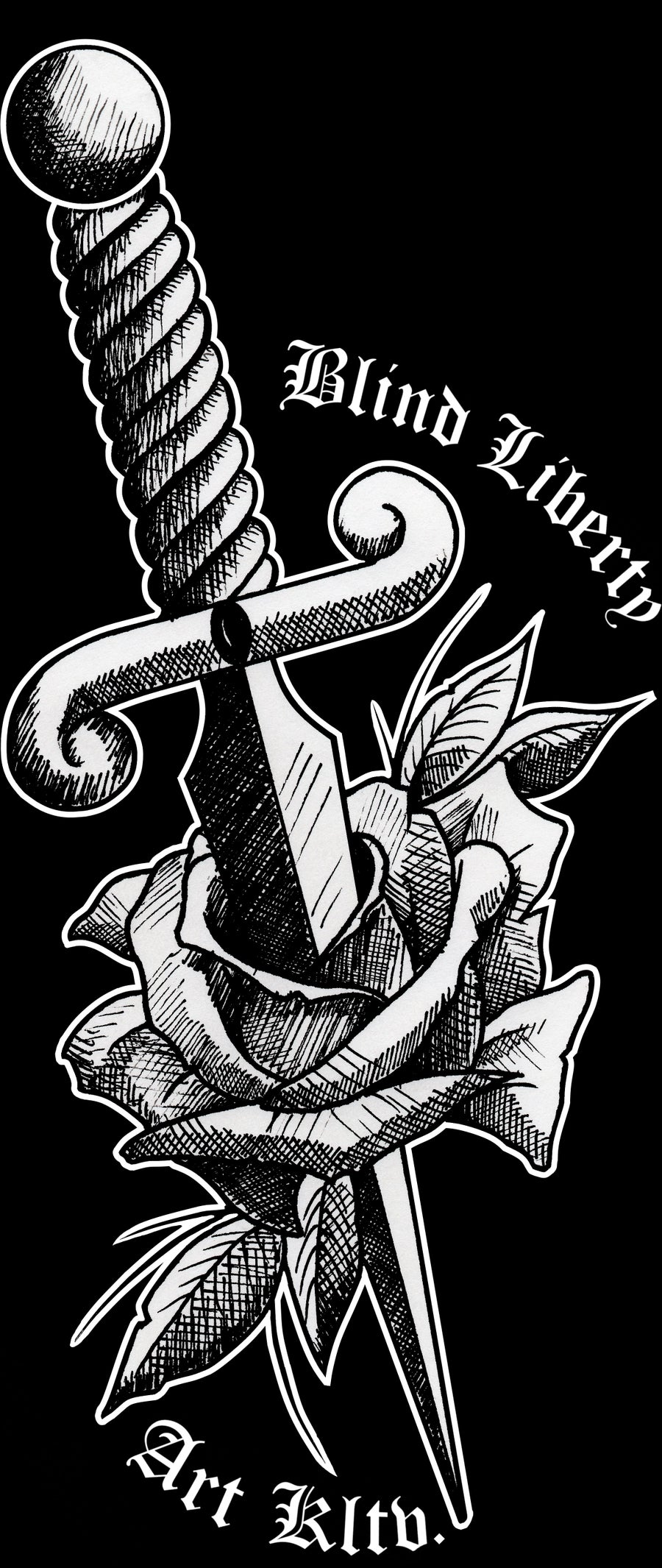 Image of Ladies Rose and Dagger Tee
