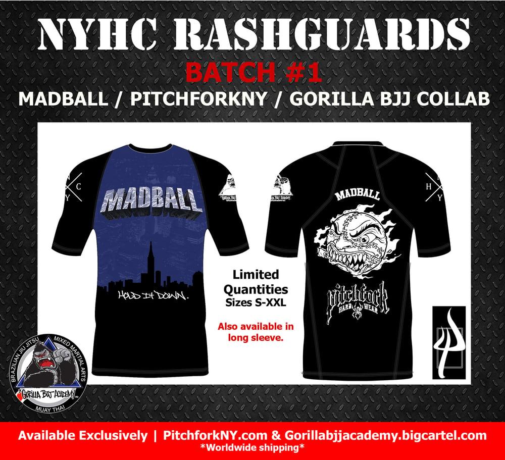 Image of NYHC Batch #1  Madball/ PitchforkNY/ Gorilla BJJ collaboration.
