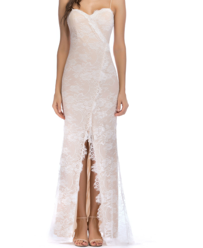 Image of Hot style sexy halter lace dress