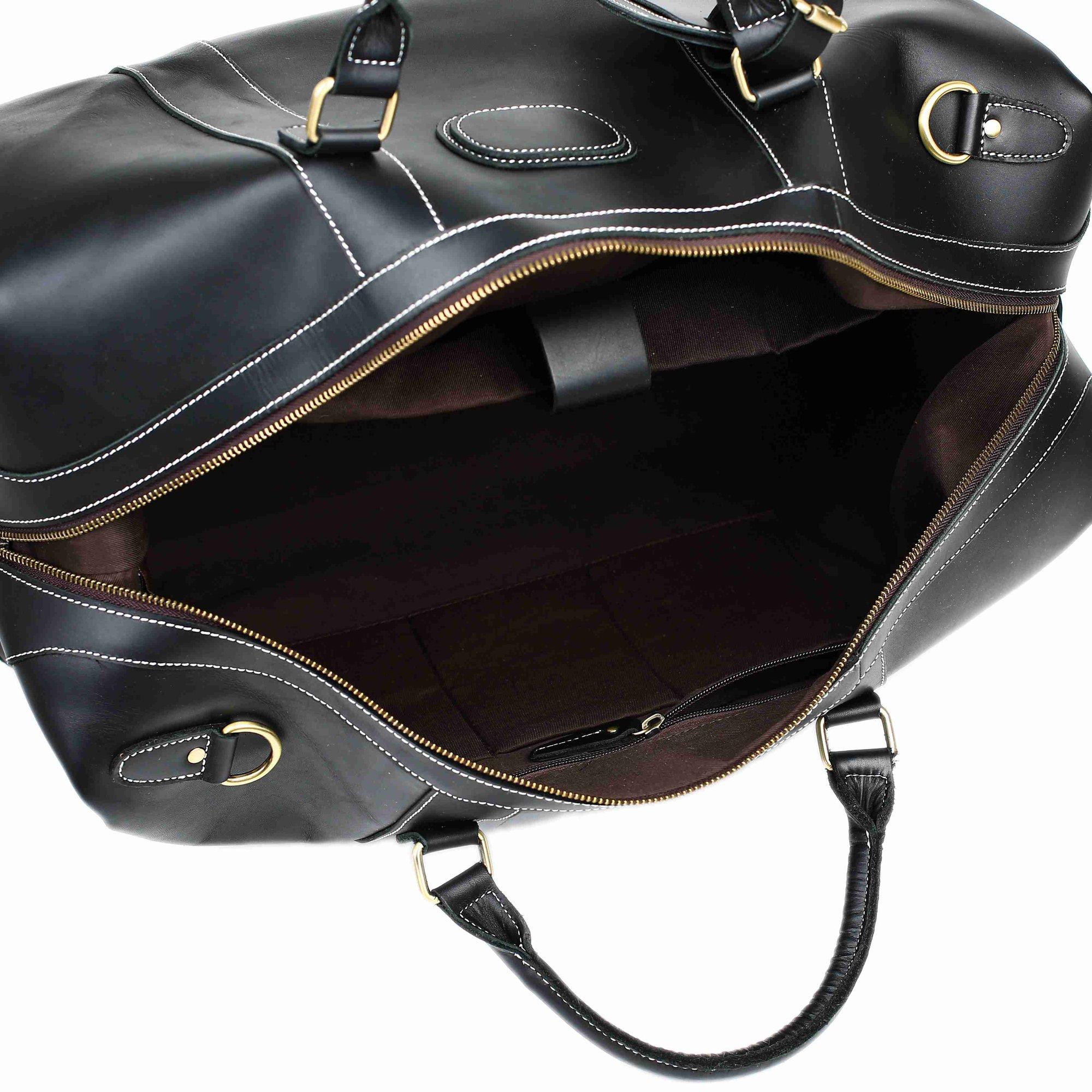 Handmade Full Grain Leather Duffle Bag, Large Travel Bag, Mens Weekender Bag  DZ07 2570070826