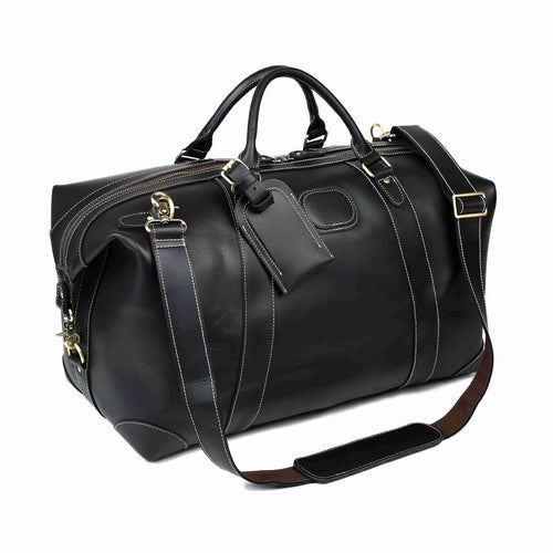 Image of Handmade Full Grain Leather Duffle Bag, Large Travel Bag, Mens Weekender Bag DZ07