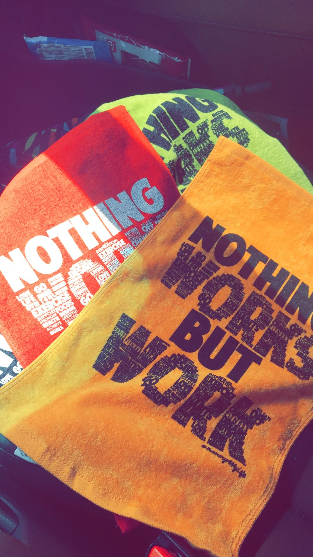 Image of Nothing Works But Work Plush Gym Towel