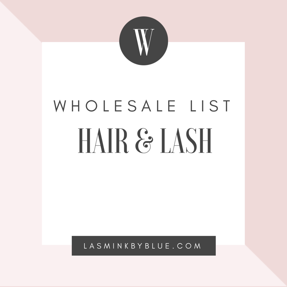 Image of Hair & Lash Wholesale List (Including cosmetic manufactures)