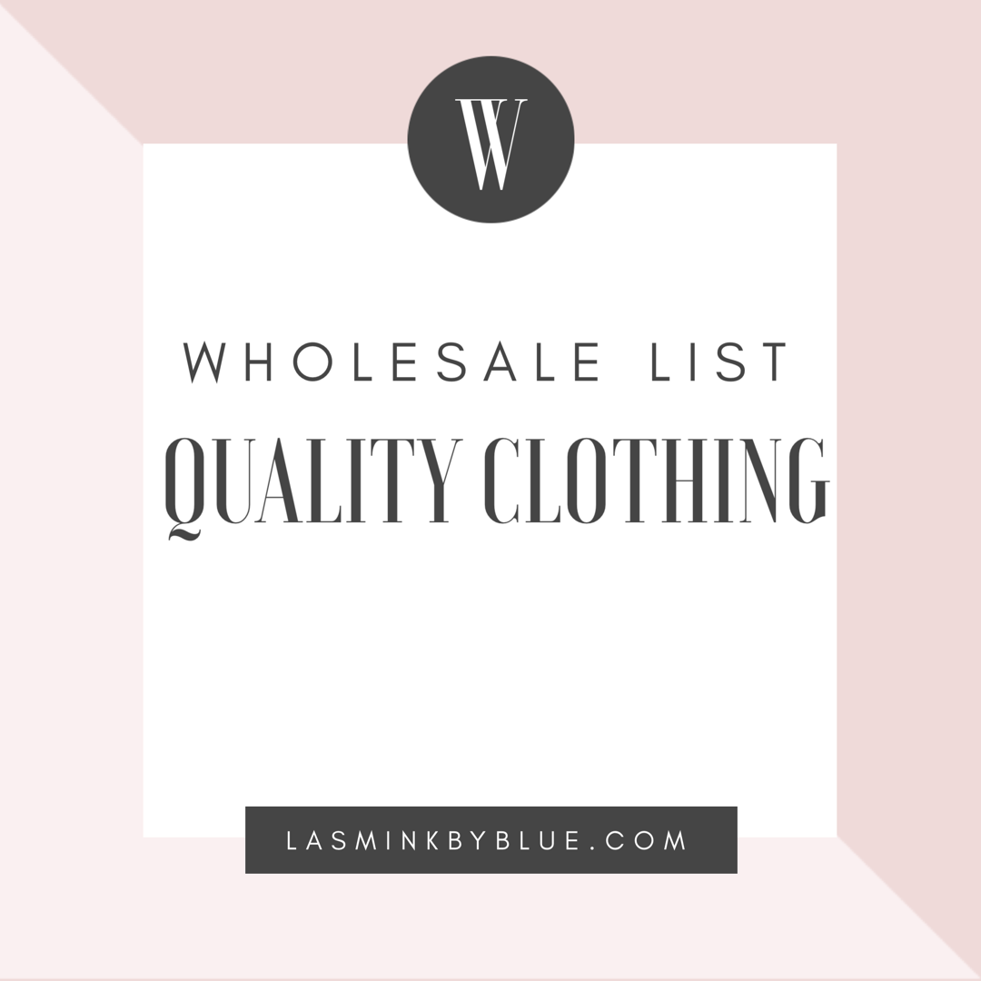 Image of Clothing Wholesale list (Including Q & A Tips)