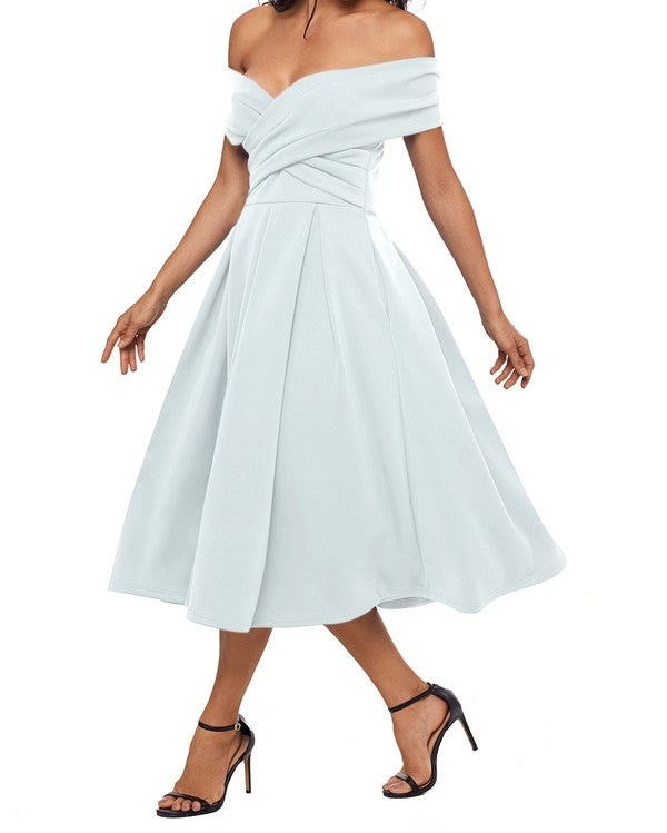 Image of White royal dress