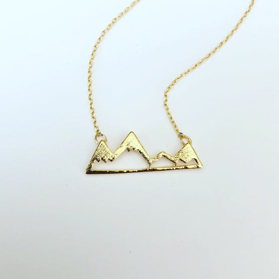 Image of Mountain range necklace