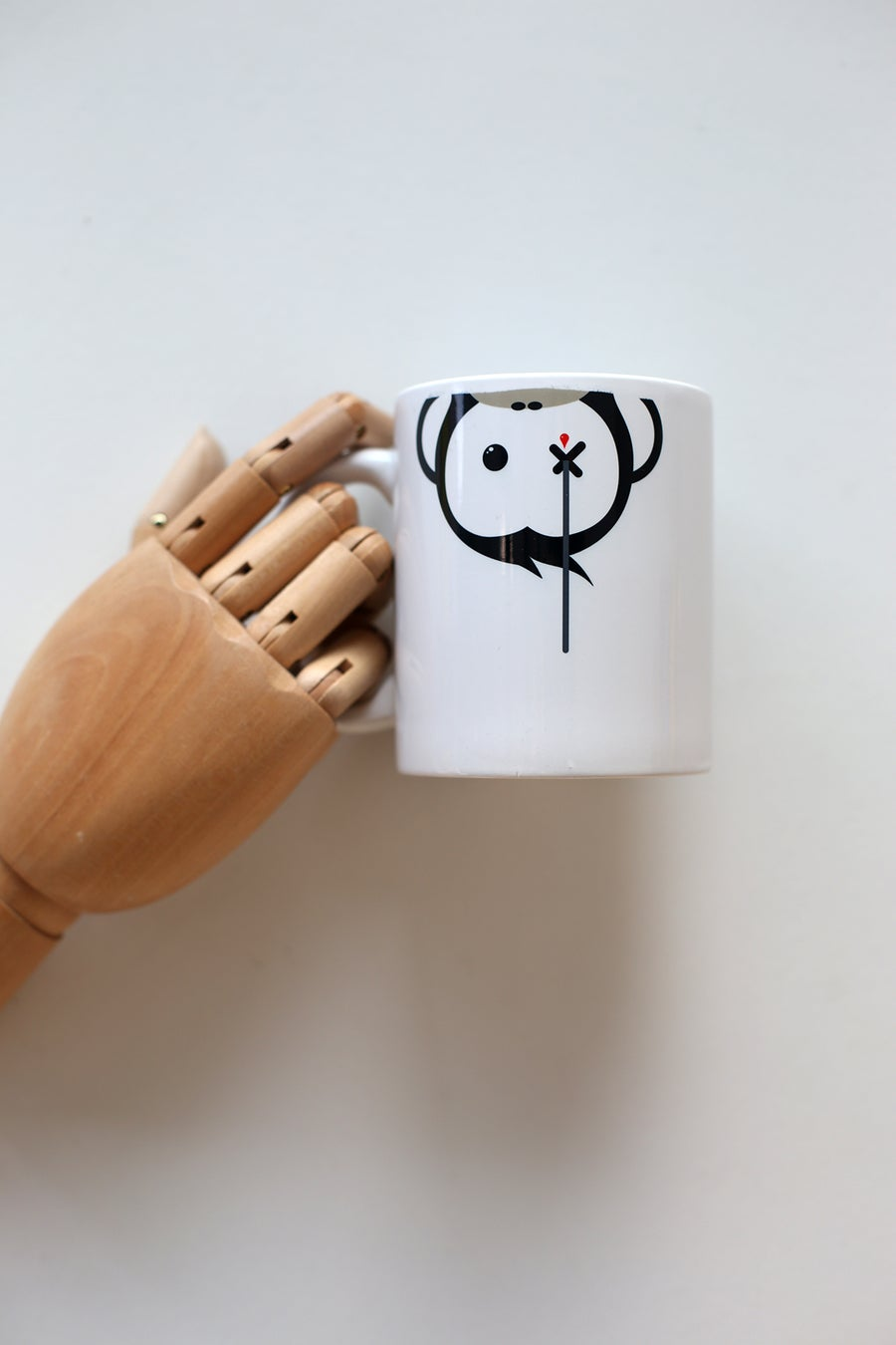 Image of Monkey Climber Facedown mug I White