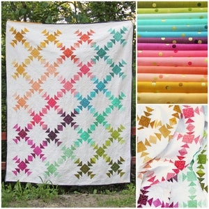 Image of Prism Ombre Confetti fabric bundle with PDF