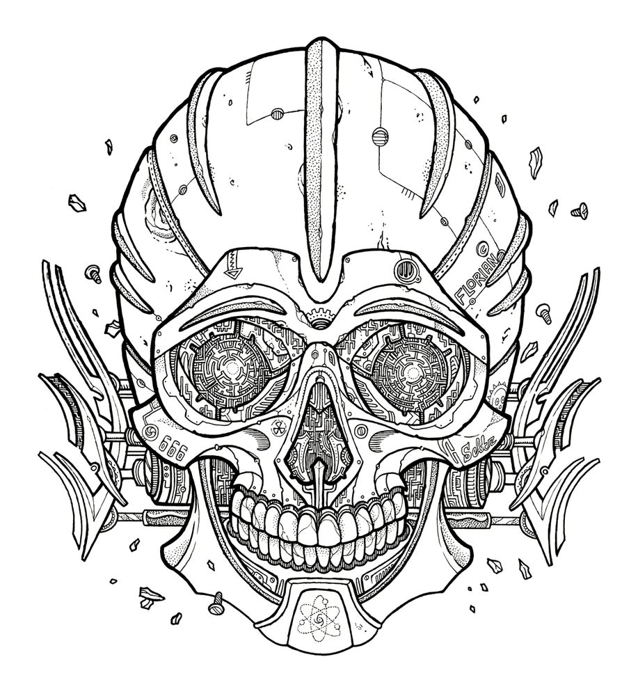 Image of Darrow skull - Original Artwork