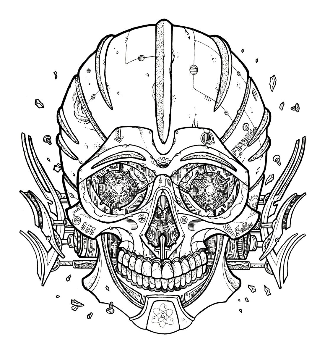 Image of Darrow skull - Original Artwork