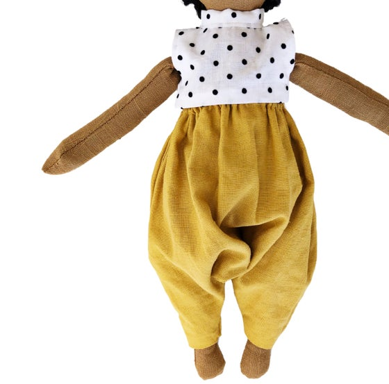 Image of Polka dot mustard jumper - Doll Accessory