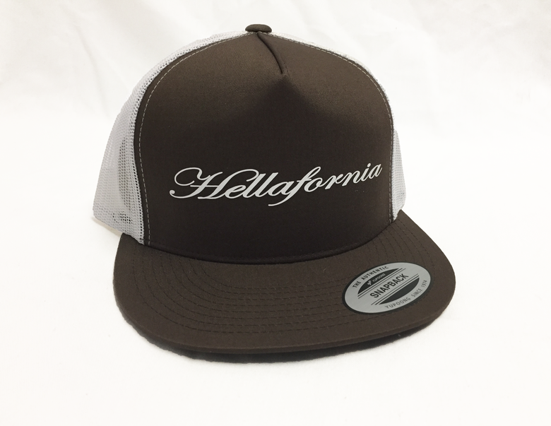 Image of Brown & White Script Trucker