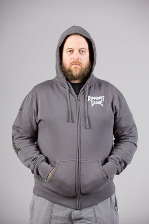 "Image of DISSIDENT CLONE ""CREATING THE CONSUMED"" GREY HOODIE"