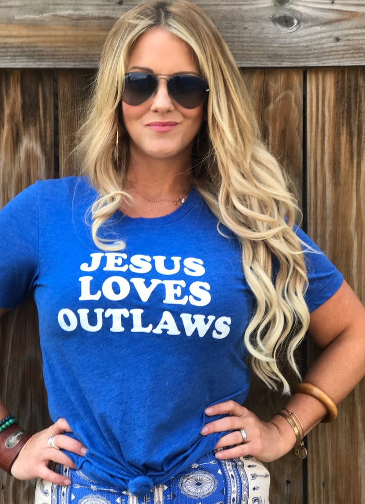 Image of Jesus Loves Outlaws Tee