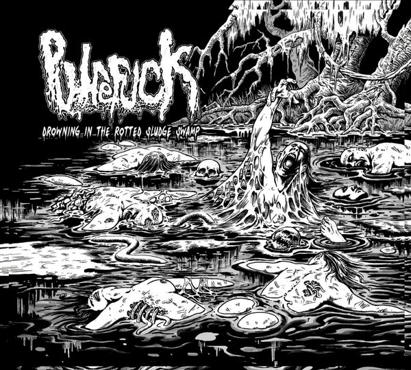 Image of PUTREFUCK - Drowning In The Rotted Sludge Swamp 4 panel digipak LIMITED 300 CDs