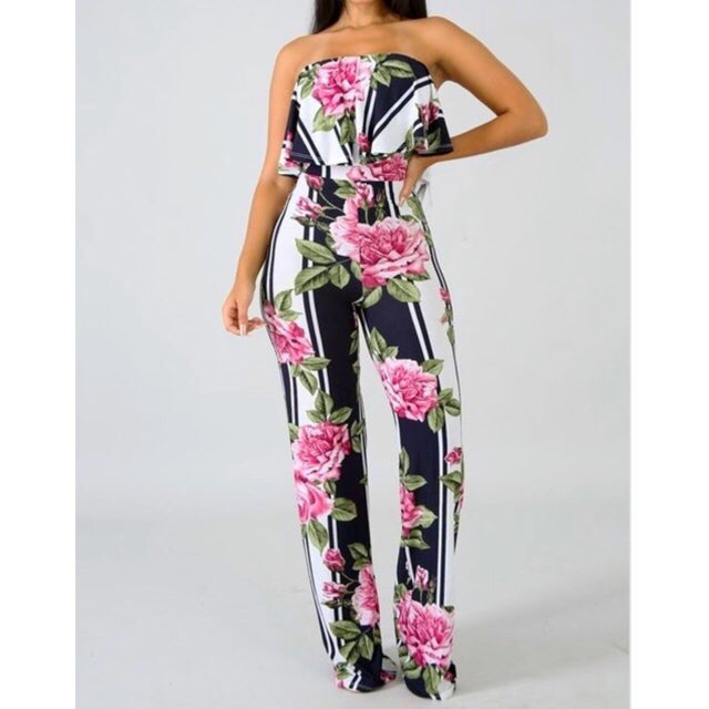 Image of Lexie Floral Jumpsuit