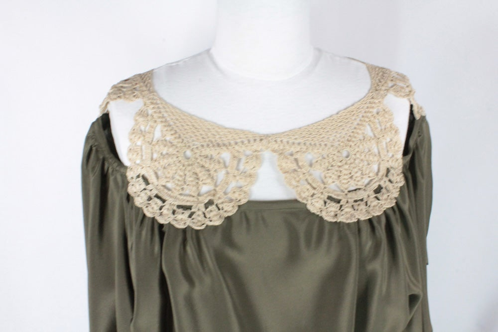 Image of Moss and Cream Angela Blouse