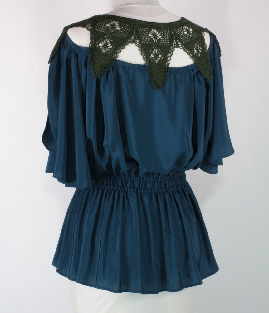 Image of Azure and Moss Angela Blouse