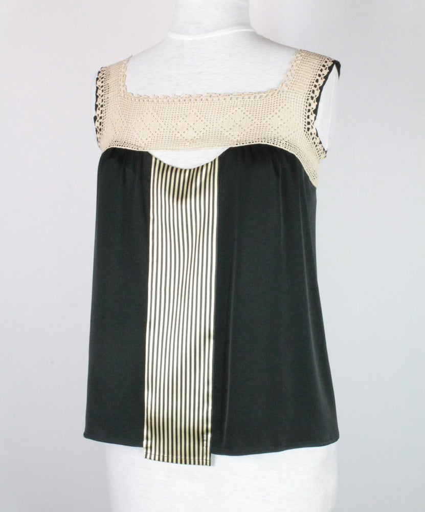 Image of Noir and Cream Nixie Blouse