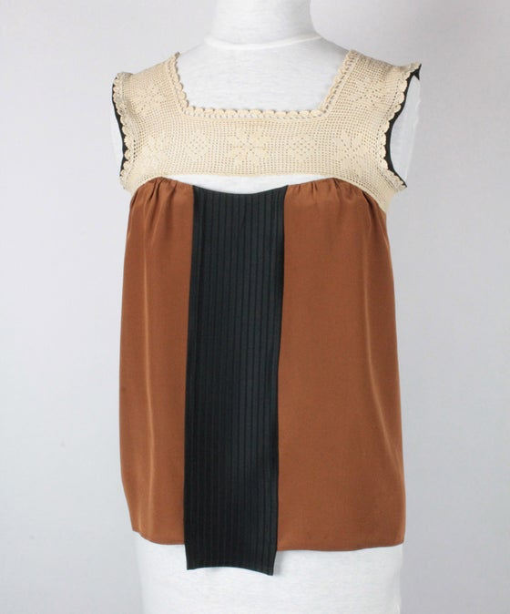 Image of Carmel and Cream Nixie Blouse