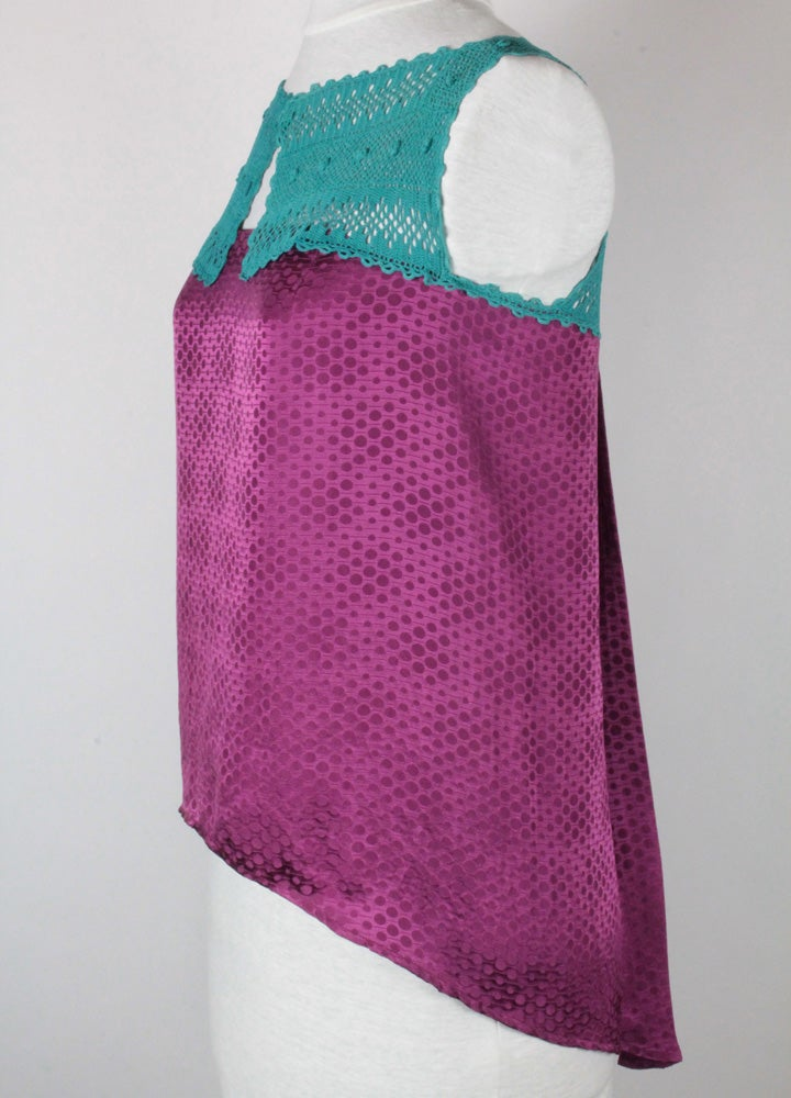Image of Fuschia and Turquoise Sophie Blouse