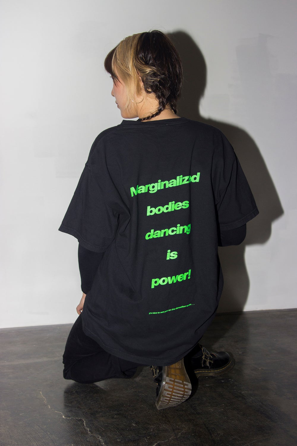 "Image of the ""marginalized bodies"" shirt"