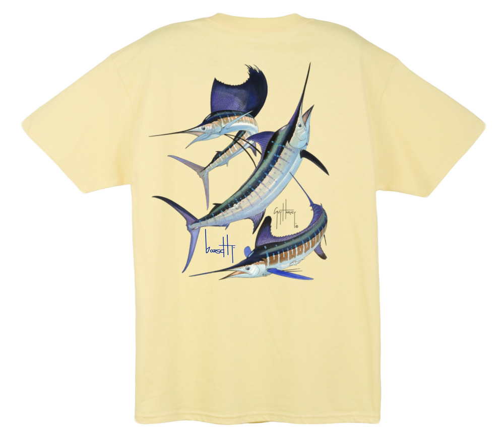 Image of Guy Harvey Grand Slam Pocket Tee (Yellow)
