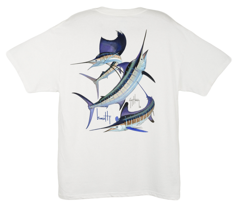Image of Guy Harvey Grand Slam Pocket Tee (White)