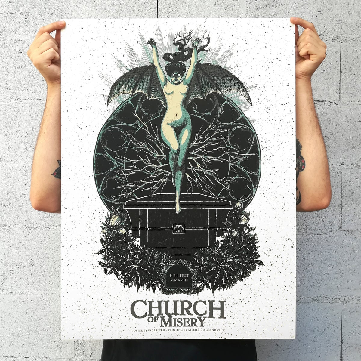 Image of CHURCH OF MISERY HELLFEST 2018 (sreenprinted poster)