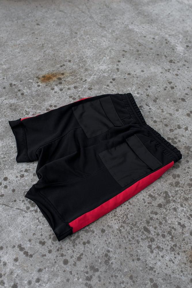 Image of Urban Flavours / U-F.studio Pocket stripe dropcrotch shorts