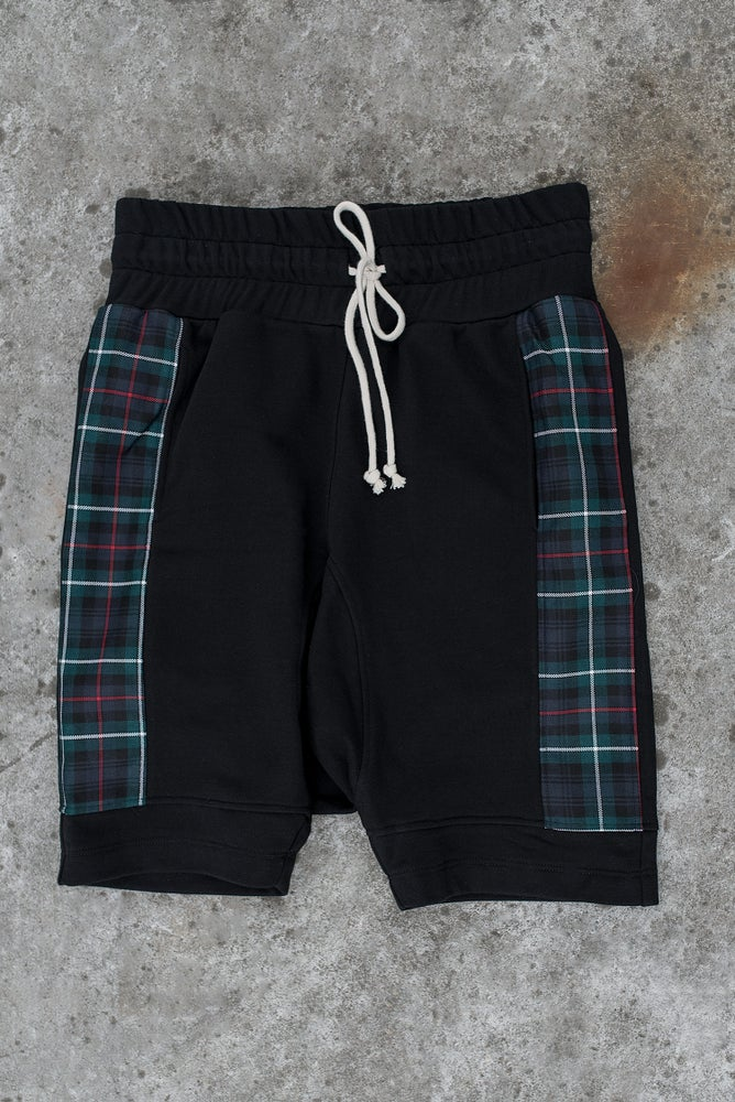Image of Urban Flavours / U-F.studio Tartan dropcrotch shorts