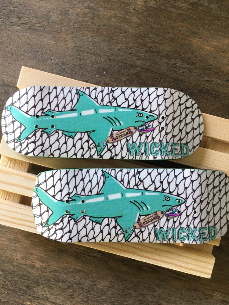Image of Wicked Fishing CO Shark Customizable 32-36mm Fingerboard