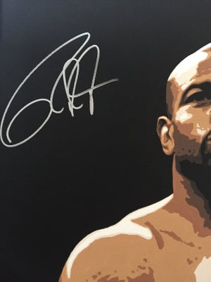 Image of SIGNED Roy Jones Jr. Original 3x2ft painting.