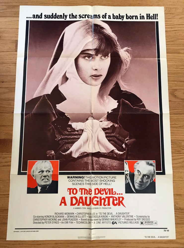 Image of 1976 TO THE DEVIL A DAUGHTER Original U.S. One Sheet Movie Poster