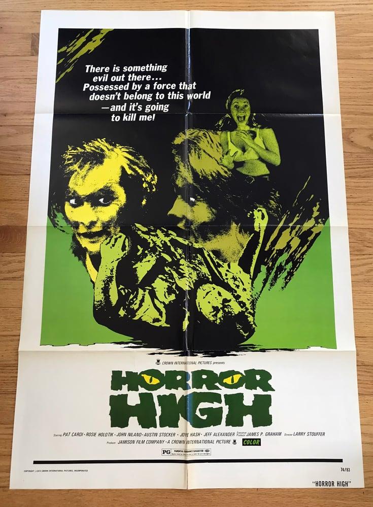 Image of 1974 HORROR HIGH aka TWISTED BRAIN Original U.S. One Sheet Movie Poster