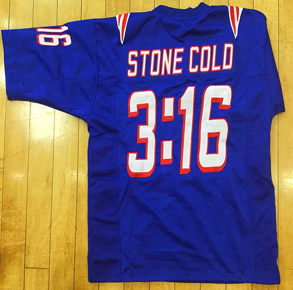 Image of Stone Cold Steve Austin PATS Football jersey