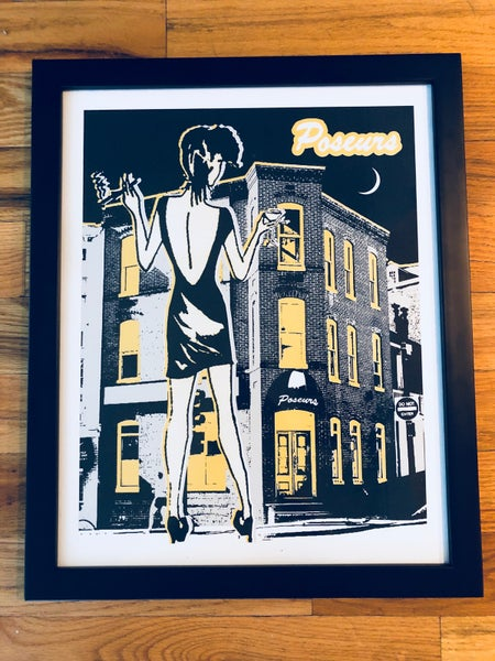 Image of Poseurs Silk Screened Art Print, Version 2 - Gold and Silver