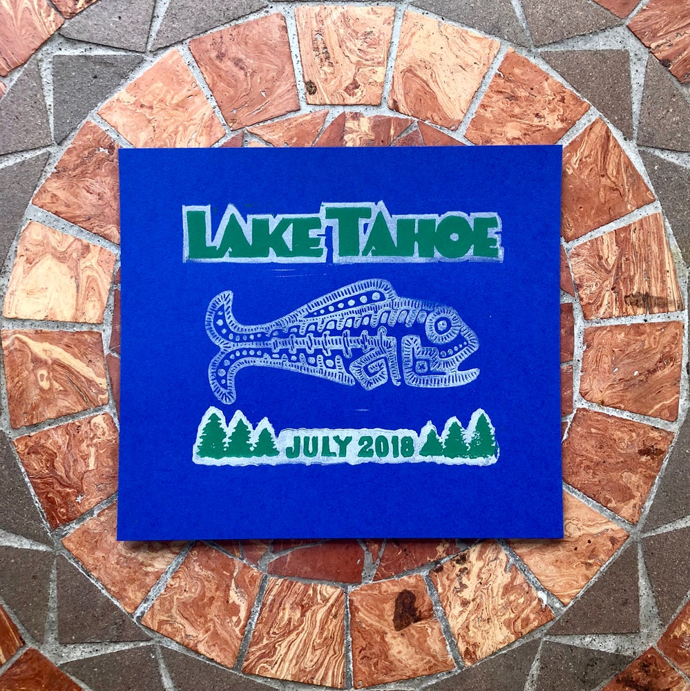 Image of Lake Tahoe hand bill