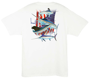 Image of Guy Harvey Stand United Tee (White)