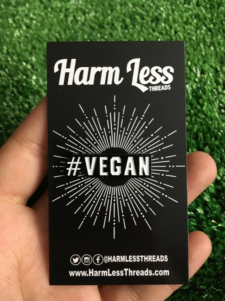 Image of #vegan pin