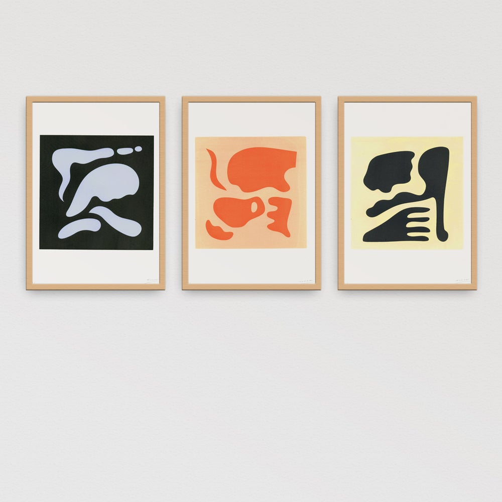 Image of Dreaming Shapes (Screen printed) Set of 3