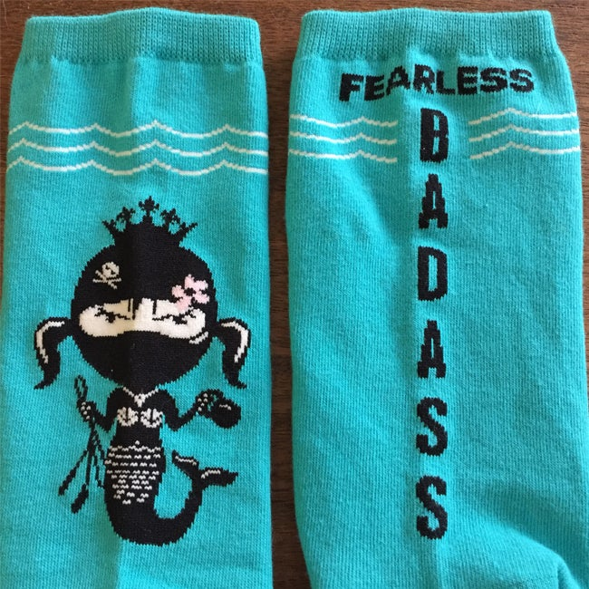 Image of Fearless Badass Mermaid Socksmith Sock $5.00