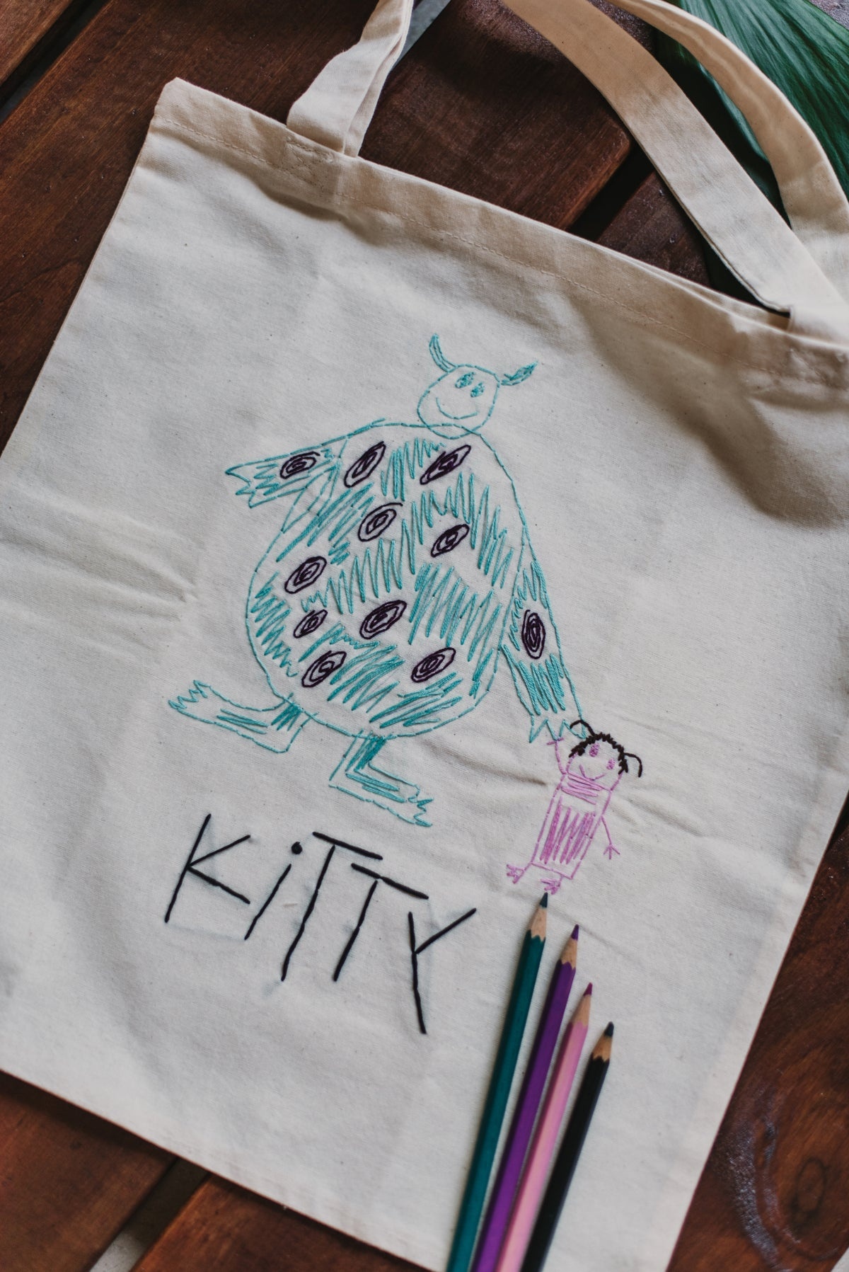 Image of Monstruos S.A. · Totebag Bordado